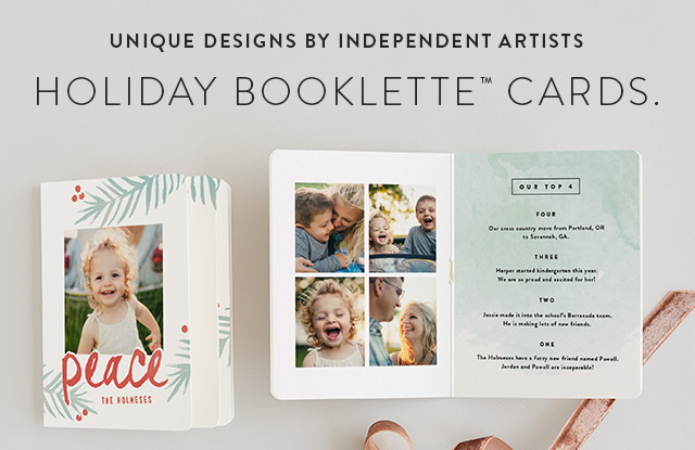 Holiday Booklette Cards