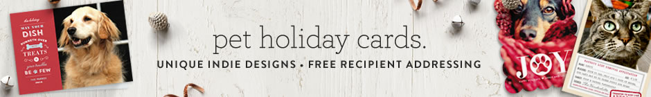 pet holiday cards