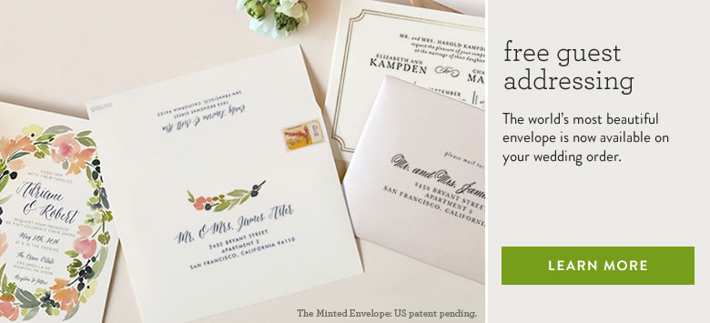 free guest addressing Banner with floral wreath address design example