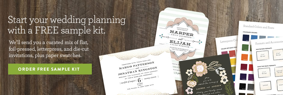 Receive a FREE Wedding Sample Kit