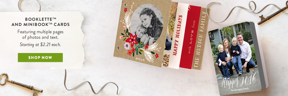 Booklette & Minibook holiday cards