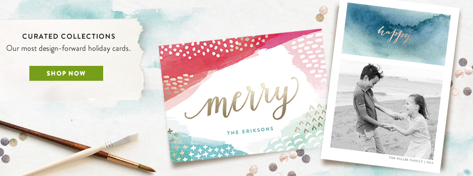 Curated holiday card collection