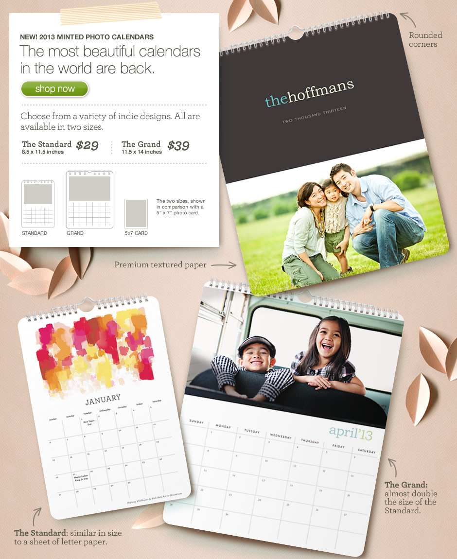 Coming soon: Minted's photo calendar