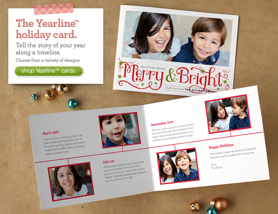 Holiday Yearline Cards