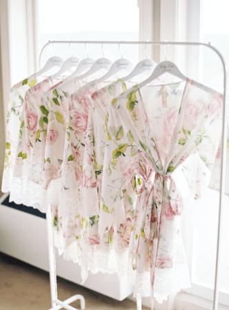 floral wedding bridesmaid robes
