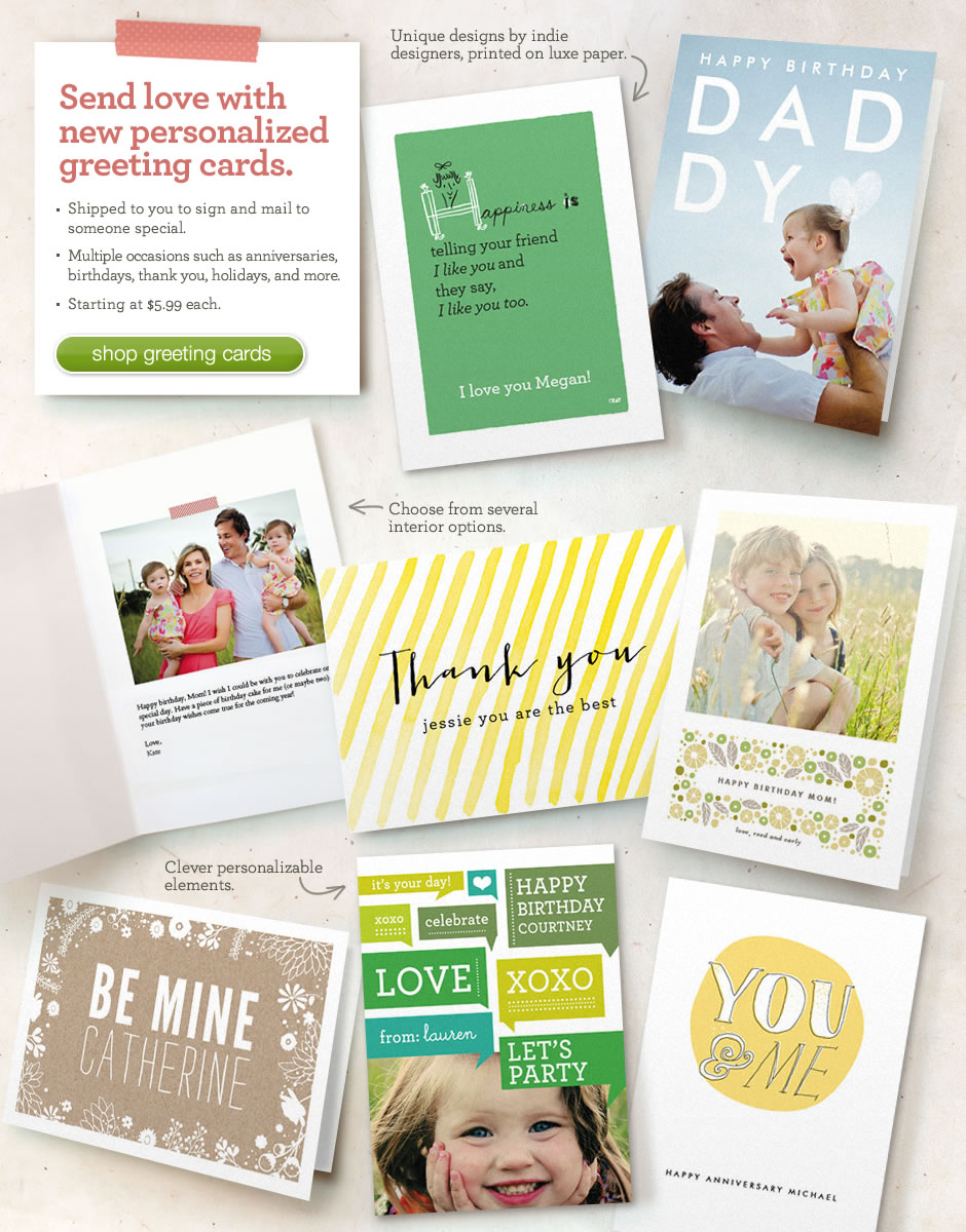 Give an individual personalized greeting card.