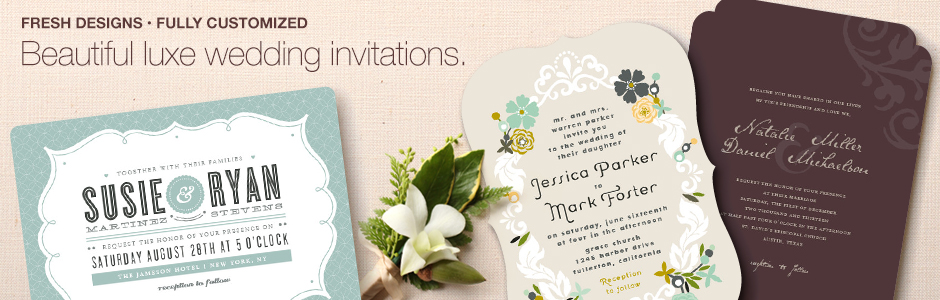 Beautiful, luxe wedding invitations