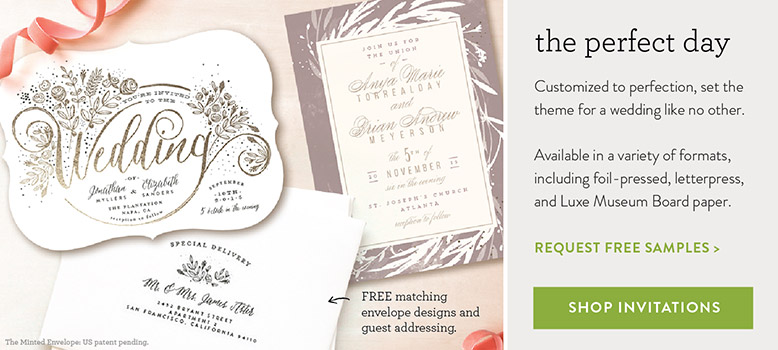 Minted sale for wedding invitations