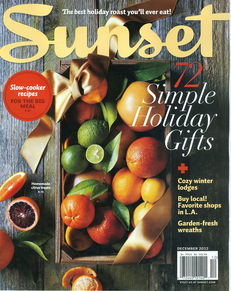 Sunset Magazine December 2012