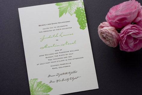 Decorative Vineyard Wedding Invitations