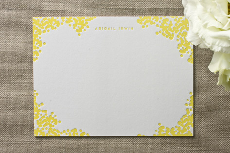 Cheree Berry Blooming Border Personalized Stationery