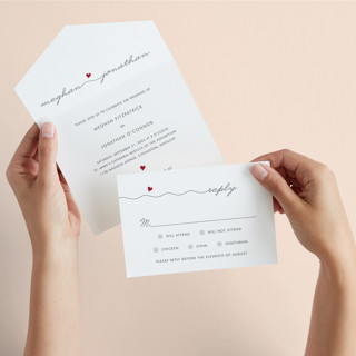 Love Connection All-in-One Wedding Invitations