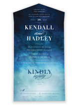 Indigo Sea All-in-One Wedding Invitations