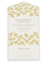 Autumn Leaves All-in-One Wedding Invitations