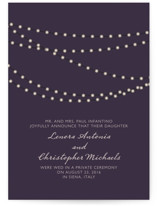 Midnight Vineyard Wedding Announcements