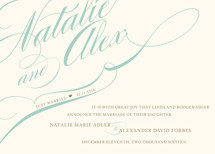 Winter Flourish Wedding Announcements