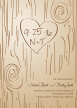 Fall Carving Wedding Announcements