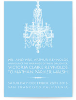 Chandelier Wedding Announcements