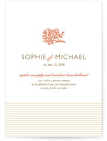 Coral Wedding Announcements
