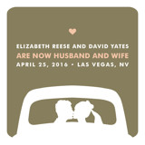 just married Wedding Announcements