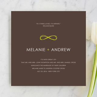 Infinite Wedding Announcements
