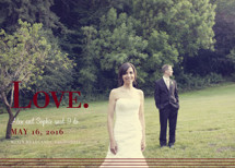 Nostalgia Wedding Announcements