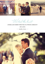 Chic Wedding Announcements
