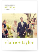 float + celebrate Wedding Announcements