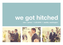 Modern Joy Wedding Announcements
