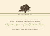 Oak Tree Wedding Announcements