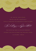 Pearls on a String Wedding Announcements