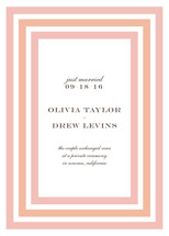 Float + Sweetie Stripe Wedding Announcements