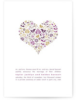 Love Birds Wedding Announcements