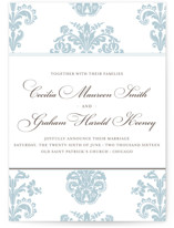 Float + Bridal Brocade Wedding Announcements