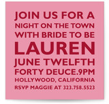 Block Bachelorette Party Invitations