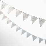 Silver Glitter Triangle 10-ft.