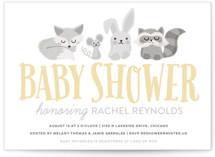 Woodland Buddies Baby Shower Postcards