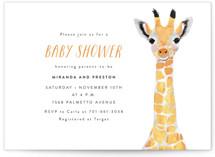 Baby Animal Giraffe Baby Shower Postcards