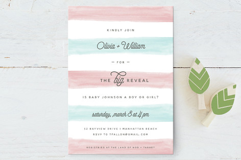 Cotton Candy Baby Shower Postcards