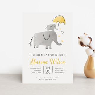 Elephant Love Baby Shower Postcards