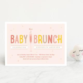 Baby Brunch Baby Shower Postcards