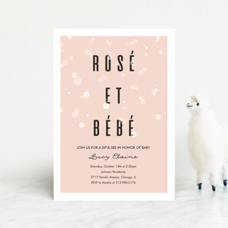 Rosé Et Bébé Baby Shower Postcards