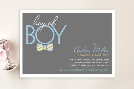Bow Tie Boy Oh Boy Baby Shower Postcards