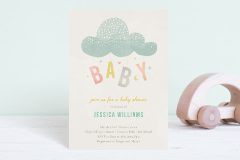Cloud Charm Baby Shower Postcards