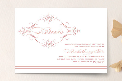 french vintage baptism christening announcements minted