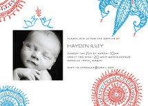Joyful Lovebirds Baptism and Christening Invitations