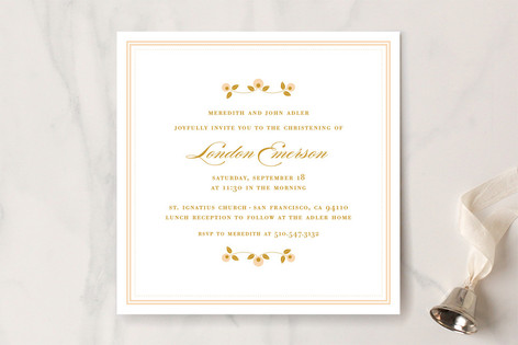 Petite Fleur Baptism and Christening Invitations