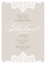 Baptismal Lace Baptism and Christening Invitations