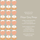 Bulb Baptism and Christening Invitations