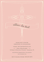 Delicate Cross Baptism and Christening Invitations